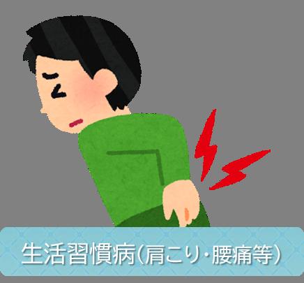 生活習慣病 (肩こり・腰痛等)