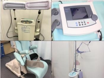 充実した医療機器・治療機器が整骨院